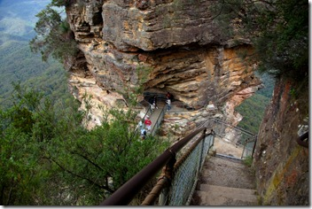 The Steps Down to 'The Three Sisters' in Katoomba