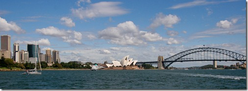 The Sydney Skyline Seen From the Rose Bay Ferry