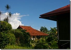 Some of the bungalows at Pondok Kencana taken as we waited for word about our boards